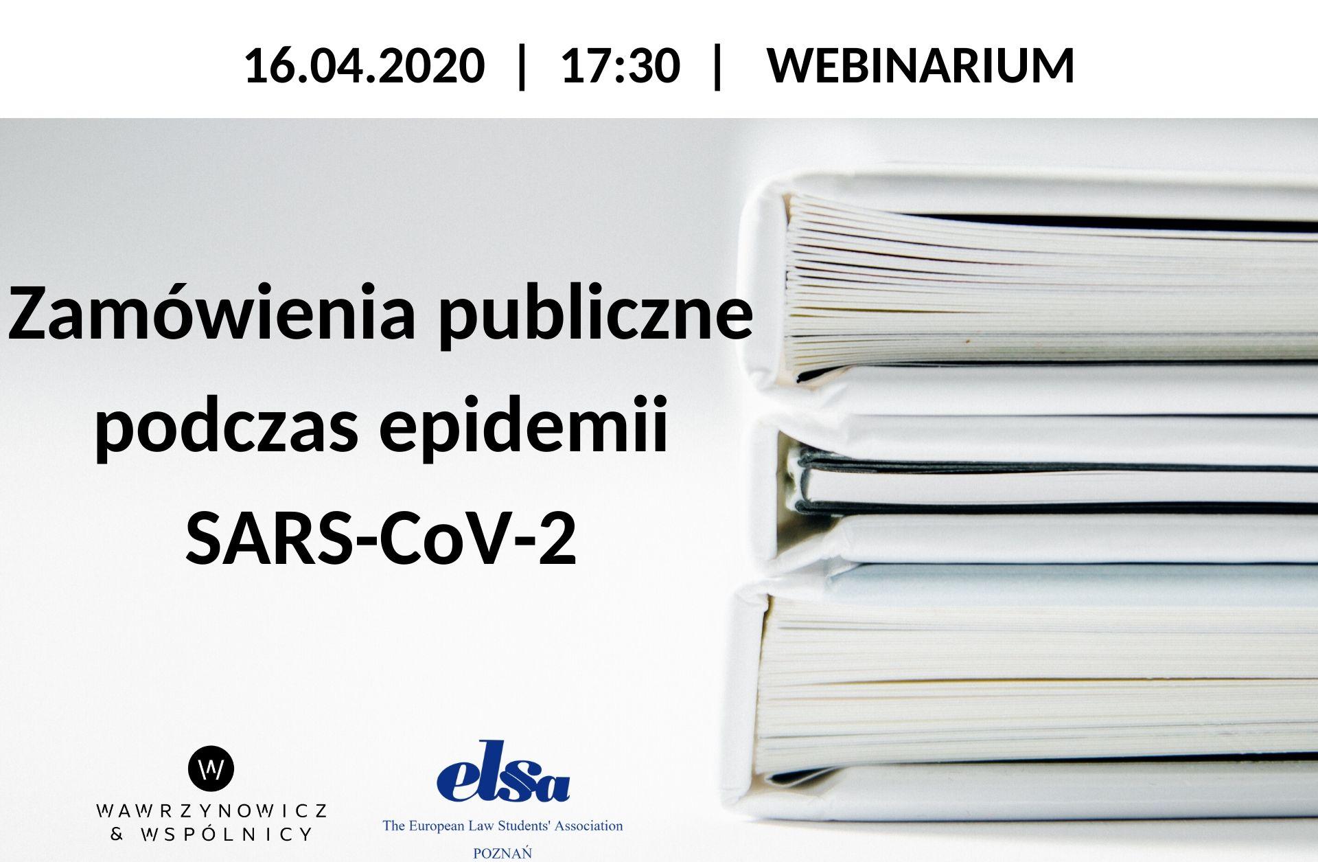 """Wykład otwarty """"Zamówienia publiczne podczas epidemii SARS-CoV-2"""""""
